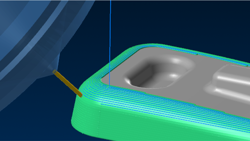 Constant Stepover toolpath for additive manufacturing in APlus