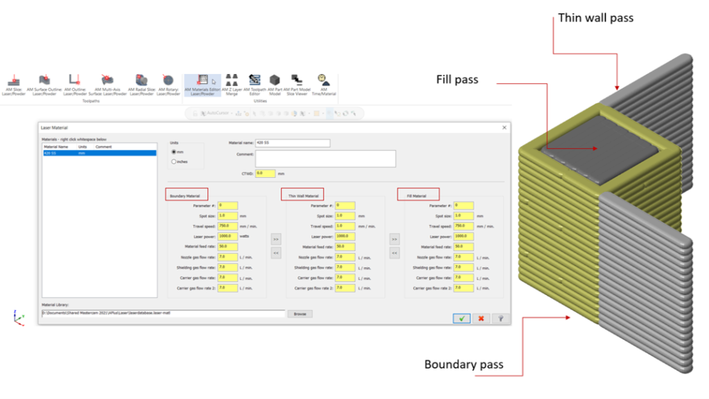 Material Editor for additive manufacturing in APlus