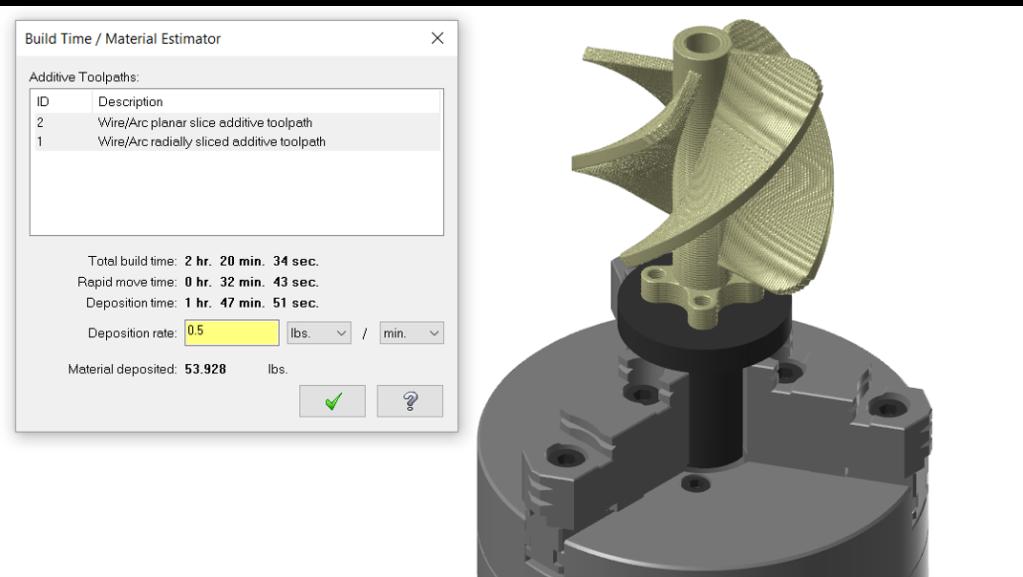 Material Estimator for additive manufacturing in APlus