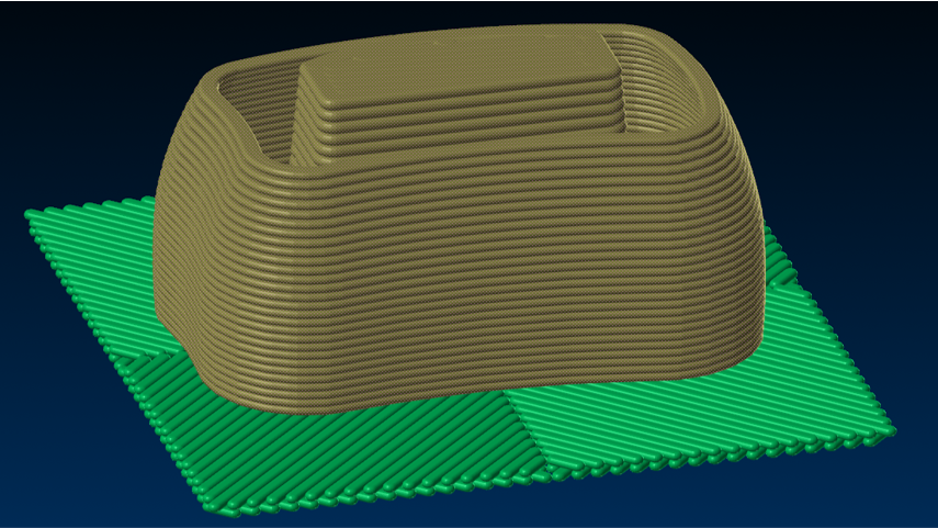 Raft Layers for additive manufacturing in APlus