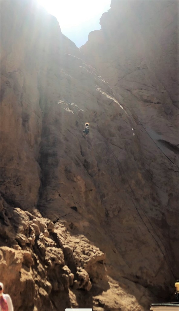 CAMufacturing Solutions' Application Engineer, Sandy Ibrahim, rock climbing in Dahab, Egypt.