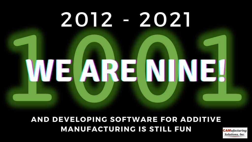 CAMufacturing Solutions' anniversary announcement.